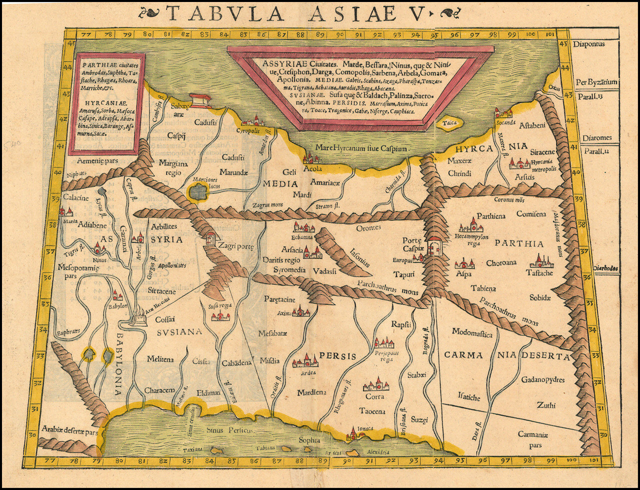 1540. Карта Среднего Востока