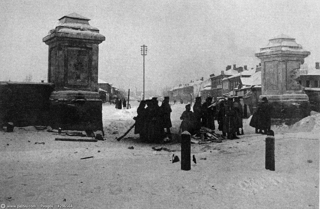 152. Пресненская застава. Уличный обыск. 1905