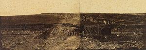 01. Панорамный снимок из Редана Малахова кургана территории, которую  британские войска заняли 8 сентября 1855