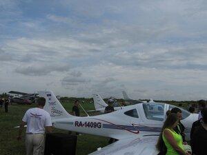 Презентация самолётов «Tecnam» на аэродроме в деревне Борки