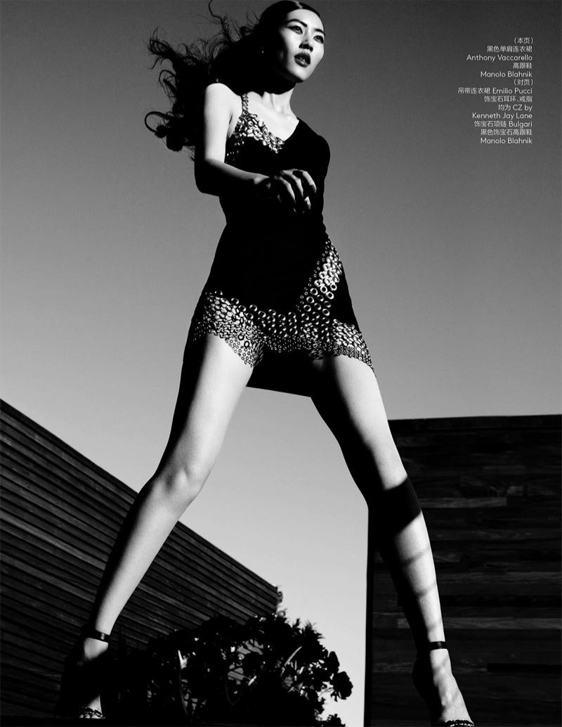 Лю Вэнь в юбилейном выпуске Vogue China