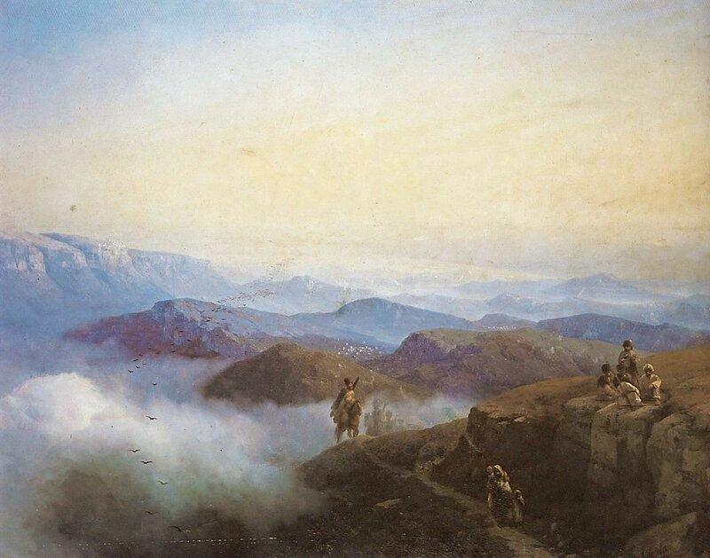 Айвазовский. Цепи Кавказских гор.jpg