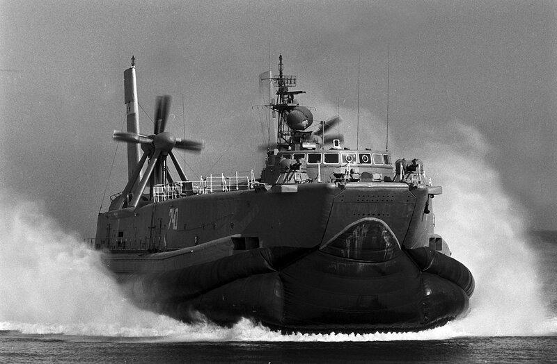 Sowjetisches Luftkissenboot auf der Ostsee bei Karlshagen