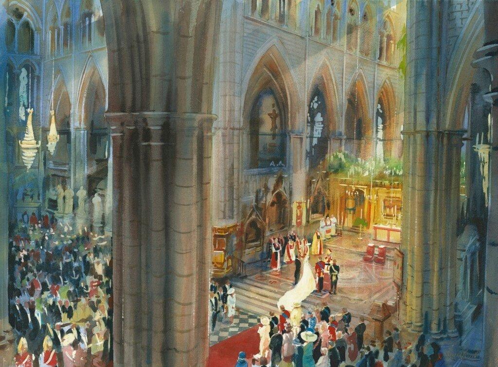 Королевская свадьба во время службы