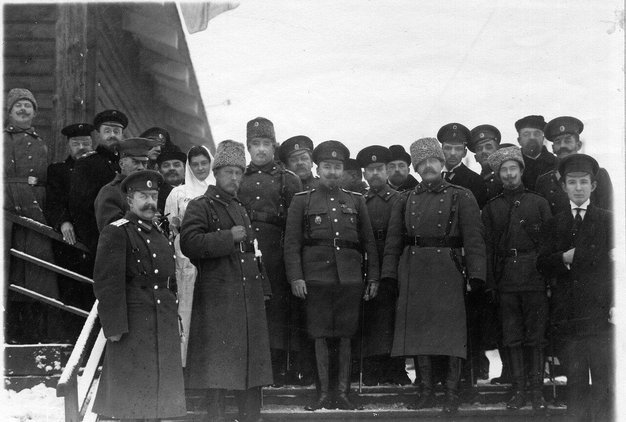 18. Личный состав поезда в день прибытия в Петроград