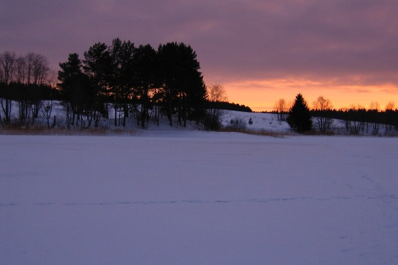 Зимний закат над Селигером