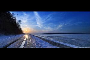 Набережная 31 марта город, панорама, Чебоксары, HDR, волга, река
