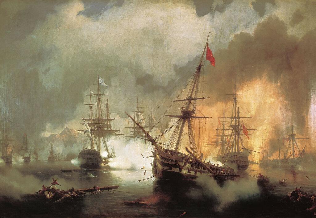 Морское сражение при Наварине 2 октября 1827 года. 1846. Холст, масло.jpg