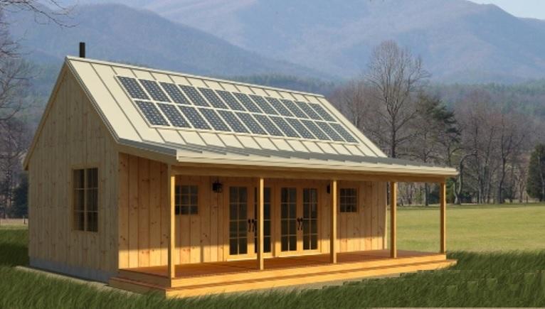 Экологичный и экономичный домик