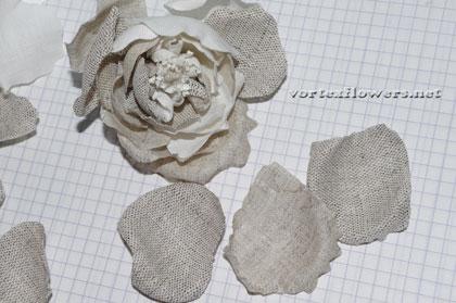 роза из льна