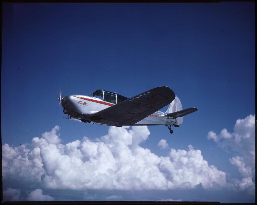 Globe Swift GC-1A (rn NX17640; cn 1) in flight