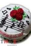 Торт Мелодия ГК Твайс на заказ с индивидуальным дизайном