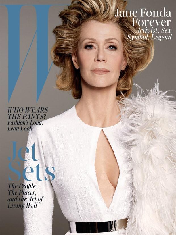 Джейн Фонда (Jane Fonda) в журнале W Magazine (6 фото)