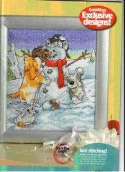Книга Вышивка крестом. Коллекция схем - Ancor  – Снеговики