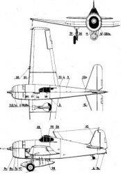 Истребитель  Grumman F6F Hellcat