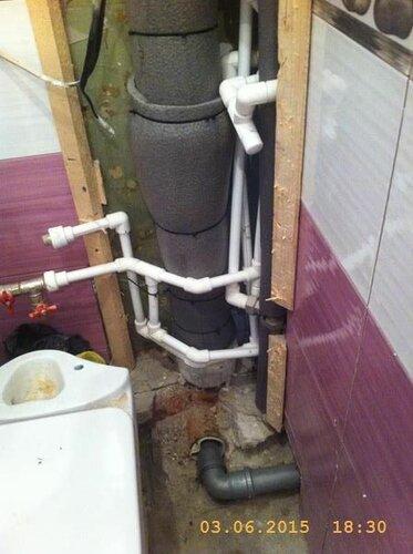 Надели теплоизоляцию на потеющие трубы