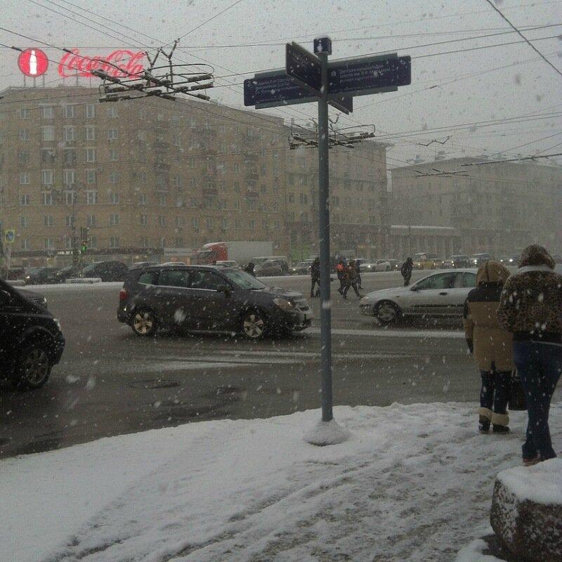 Снегопад на Соколе