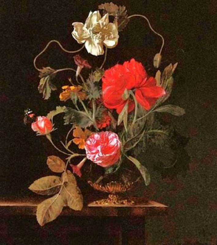 1 17 Abraham de Lust (Flemish artist, active mid 17th century) Flower Still Life.jpg