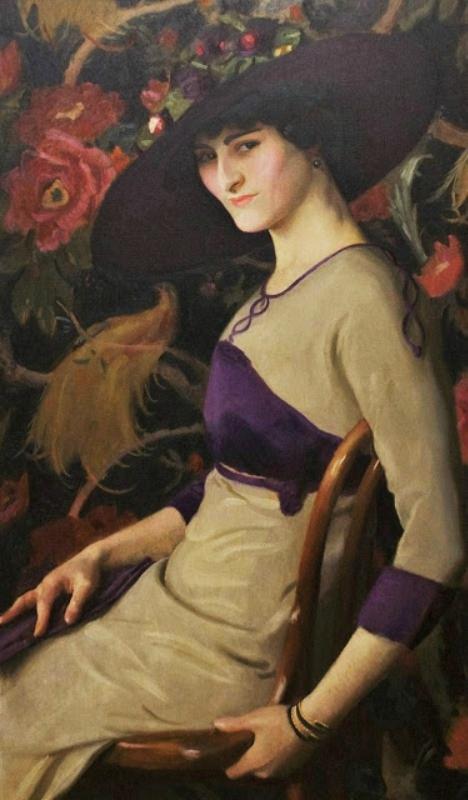William McGregor Paxton (American painter, 1869-1941) La Russe 1913 (2).jpg