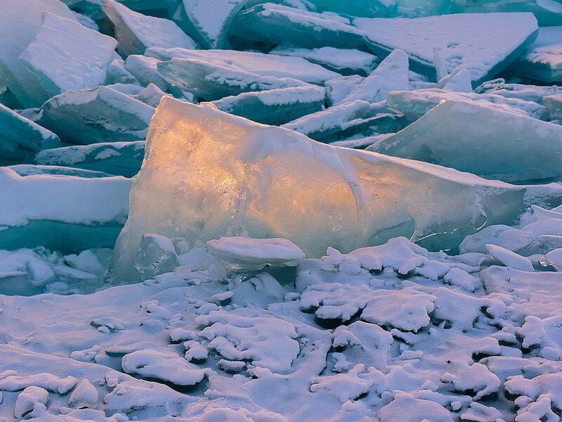 Вечерняя льдина