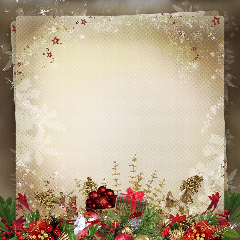 Заготовки под новогодние открытки