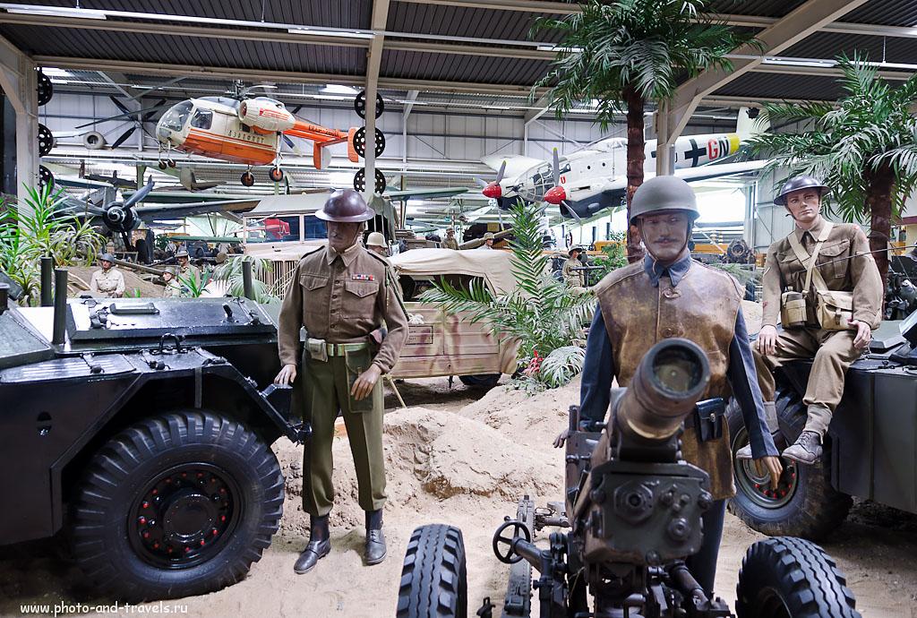 """8. Артиллеристы в музее военной техники """"Auto & Technik MUSEUM SINSHEIM"""". Отзывы об экскурсии самостоятельно. (AF-S DX Zoom-Nikkor 17-55mm f/2.8G IF-ED 1/6 сек 0 eV приоритет диафрагмы f/2.8 17 мм 100)"""