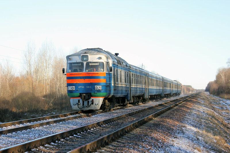 ДР1А-160 на перегоне Якимовка - Прибор