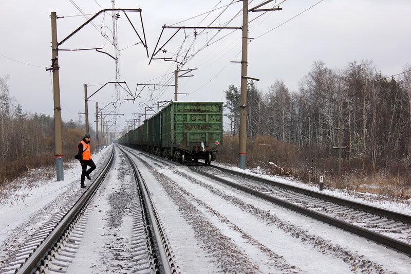 Хвост поезда с Газотурбовозом