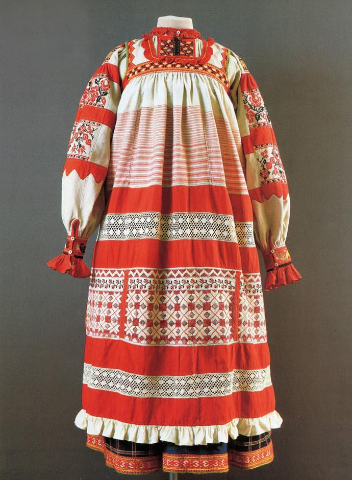 Одежда крестьянки из Орловской губернии