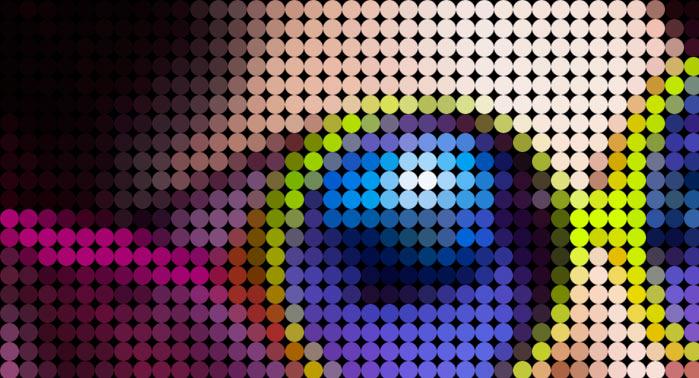 фрагмент фото из точек