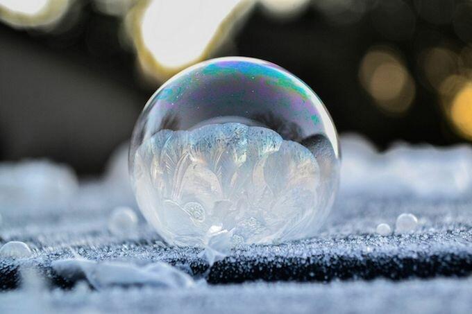 Как заморозить мыльные пузыри в домашних условиях
