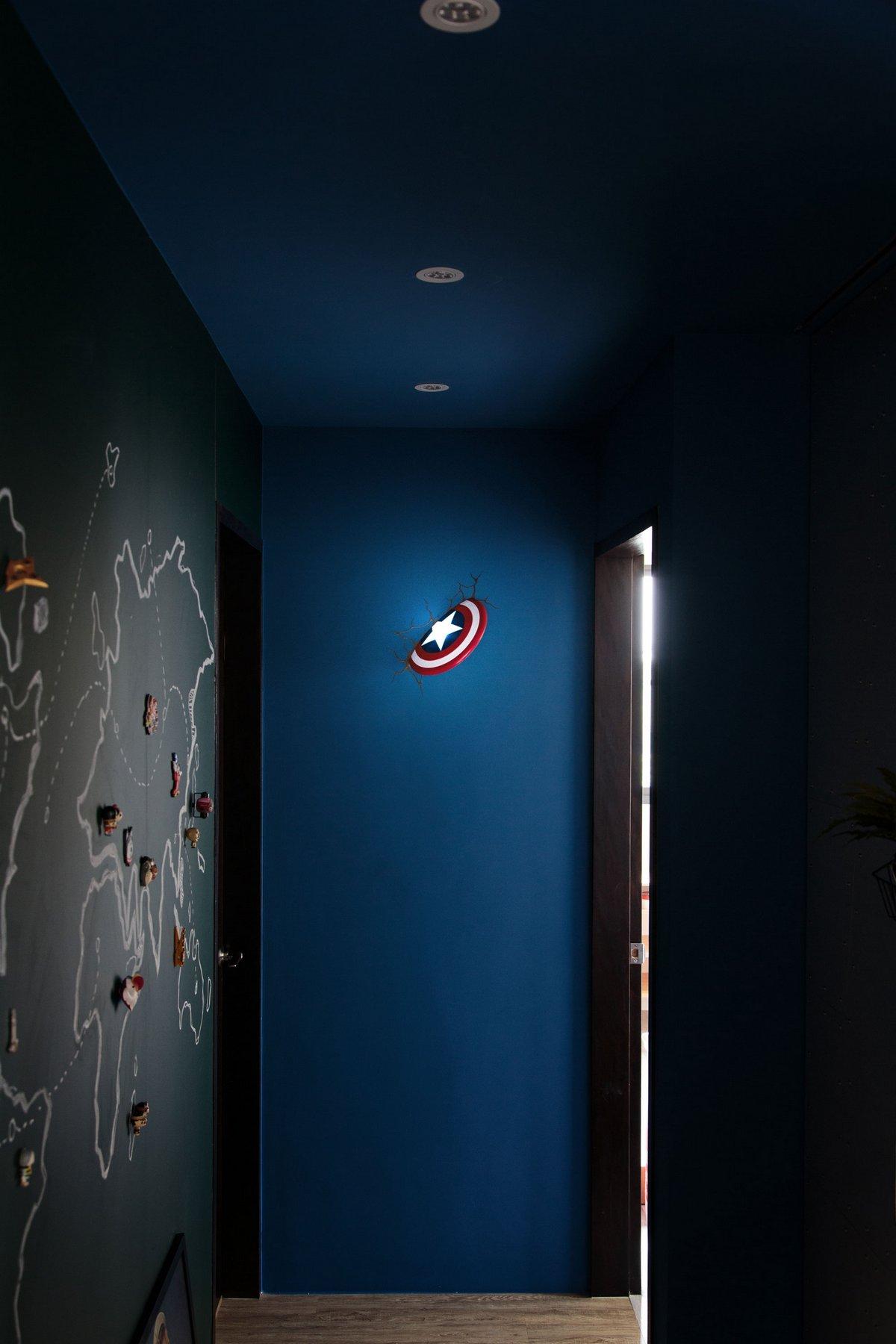 House Design Studio, House About To Launch, квартира для супергероя, дизайн квартиры для мальчика, дизайн интерьера для фаната героев, квартиры Тайнань