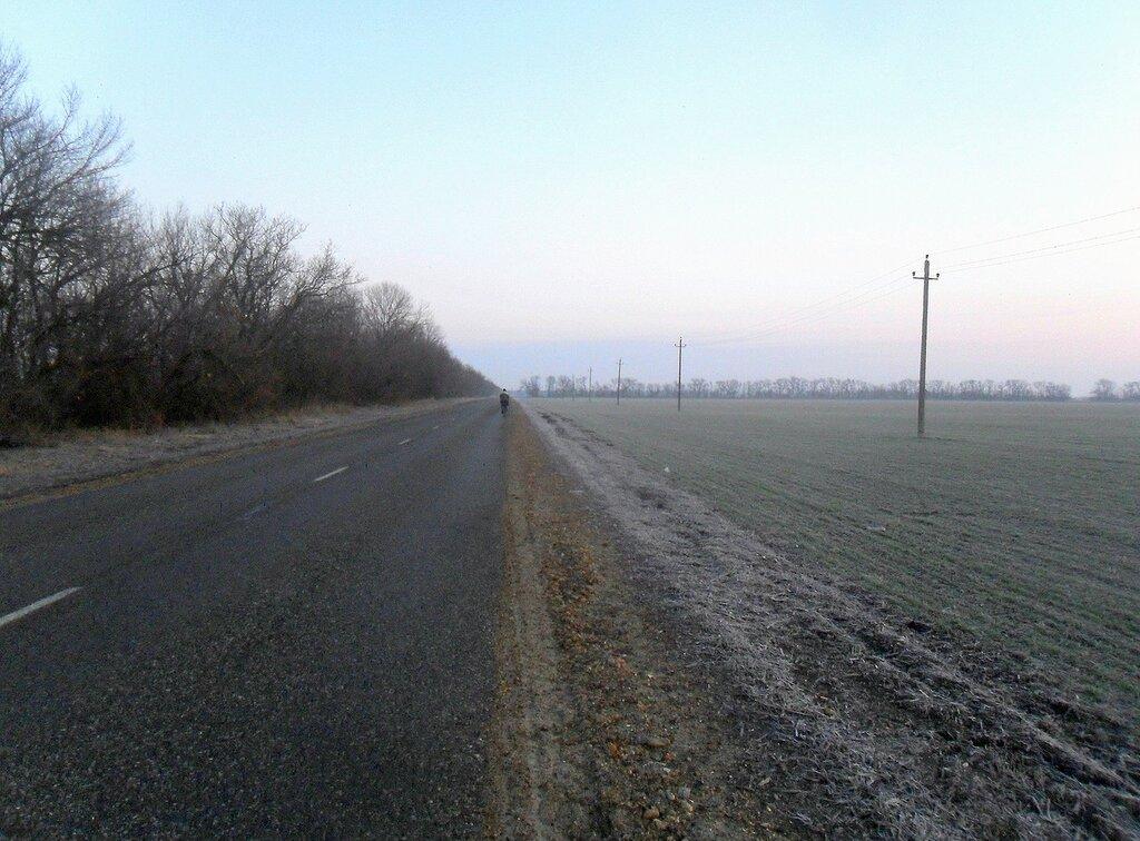 Утренняя дорога, январь, Кубань ... SAM_5189.JPG