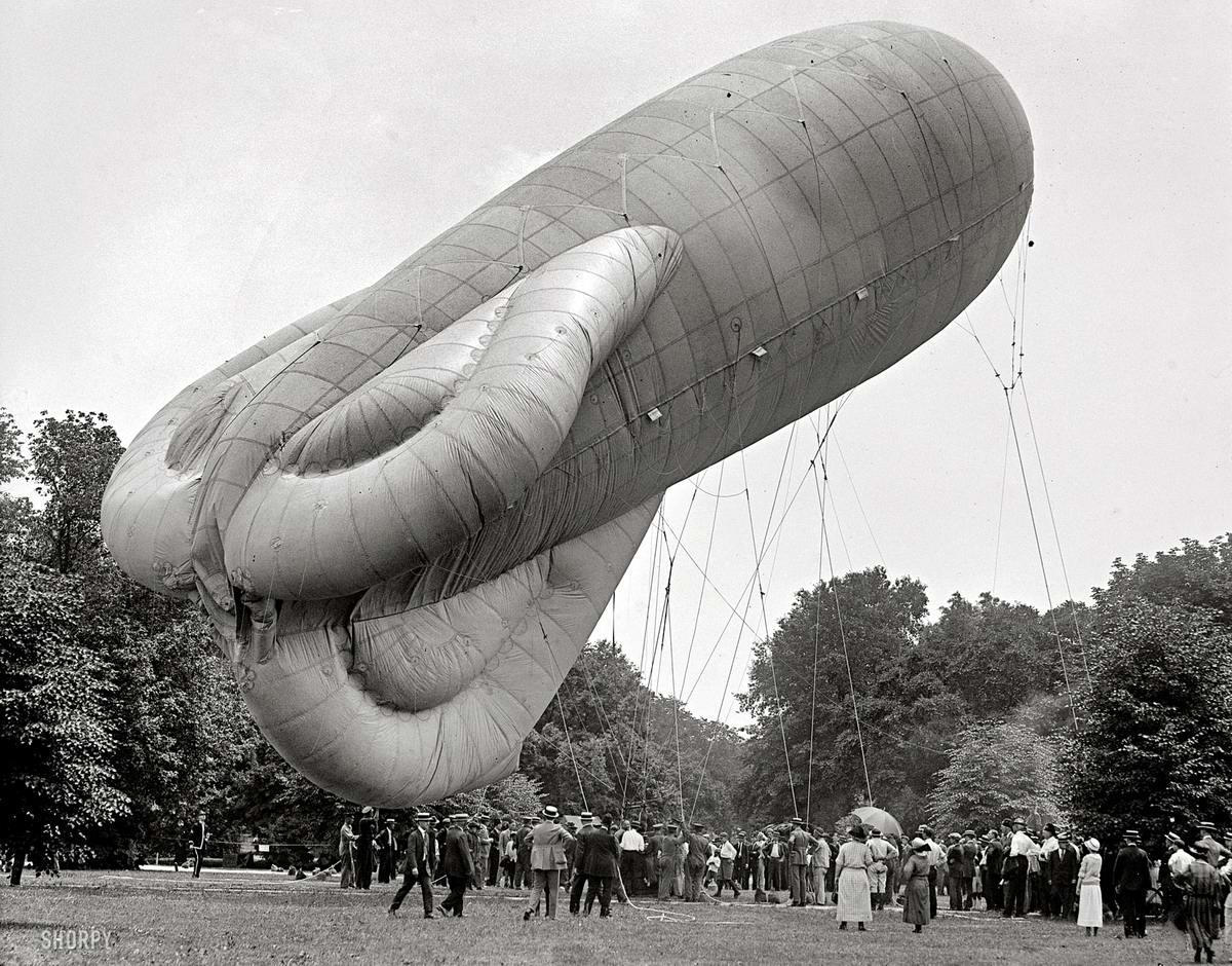 Дирижабли на снимках американских фотографов начала 20-го века (00)