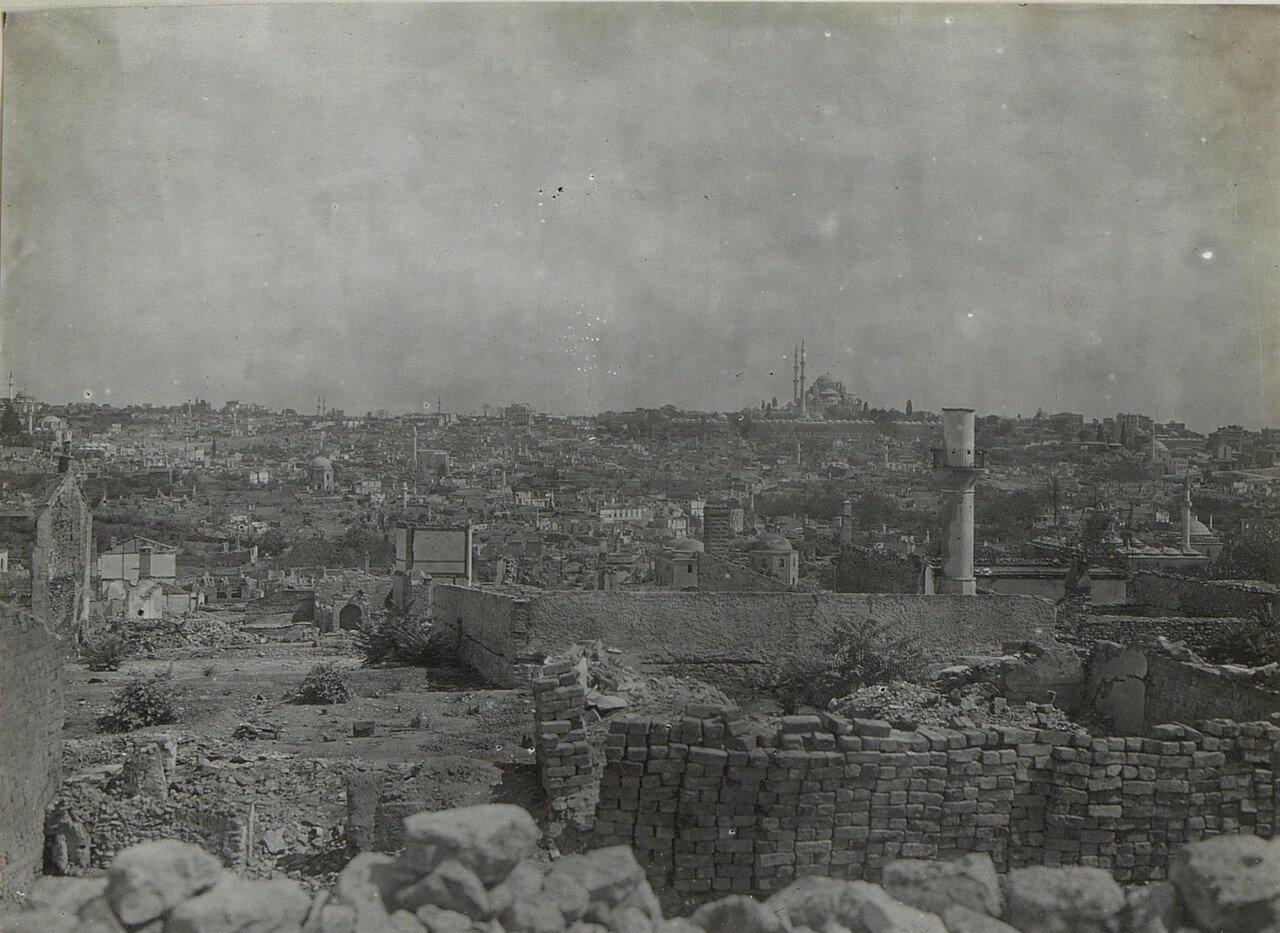 Brandruinen von Stambul.