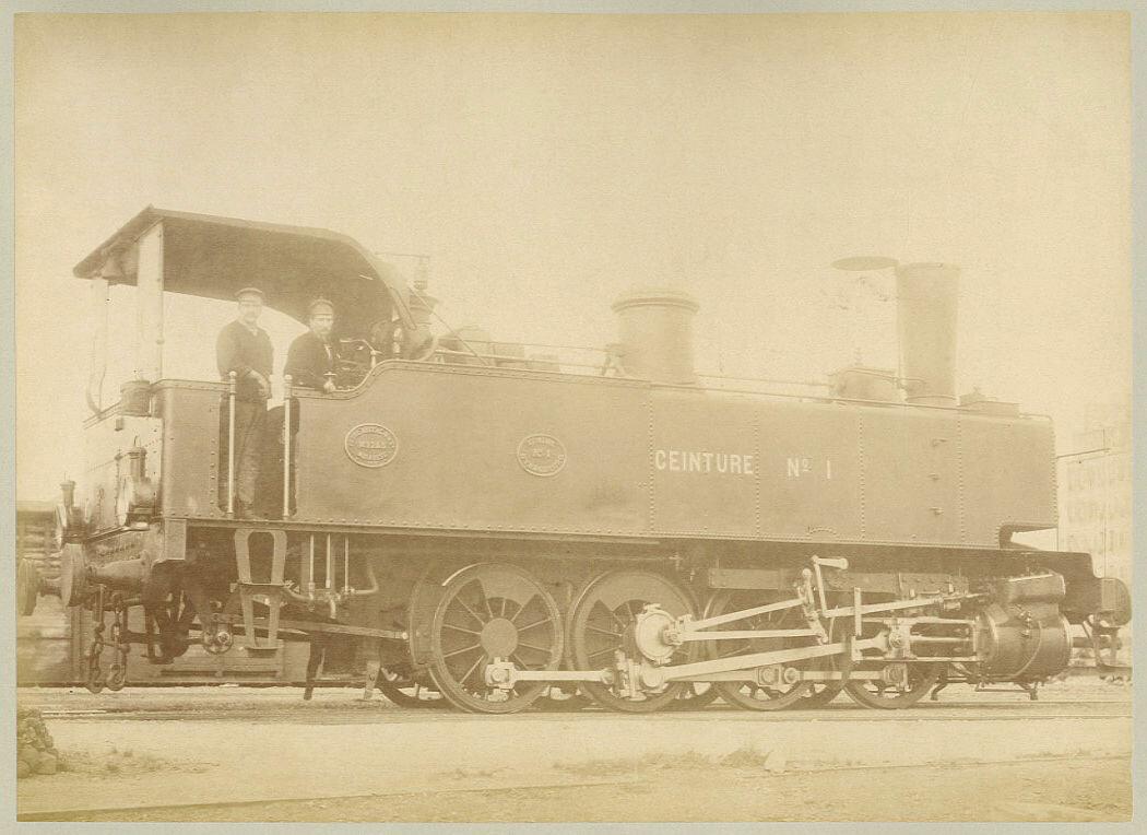 1880-е. Locomotive à vapeur Chemins de fer du Nord....JPG
