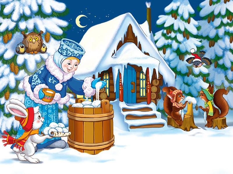 Сказки на новый год с картинками