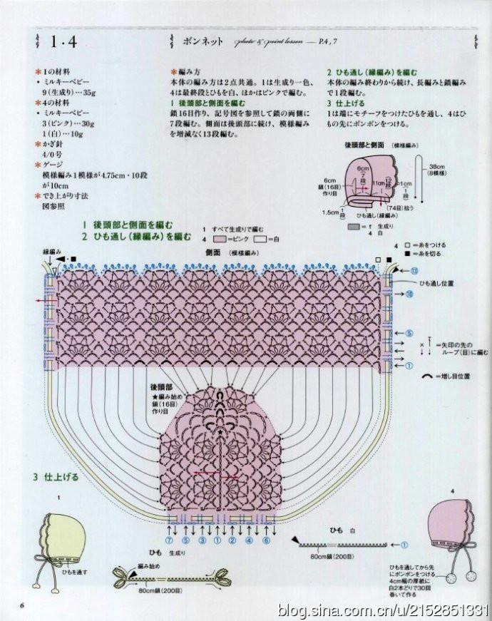 Вязание крючком чепчик для новорожденного схемы и описаниями