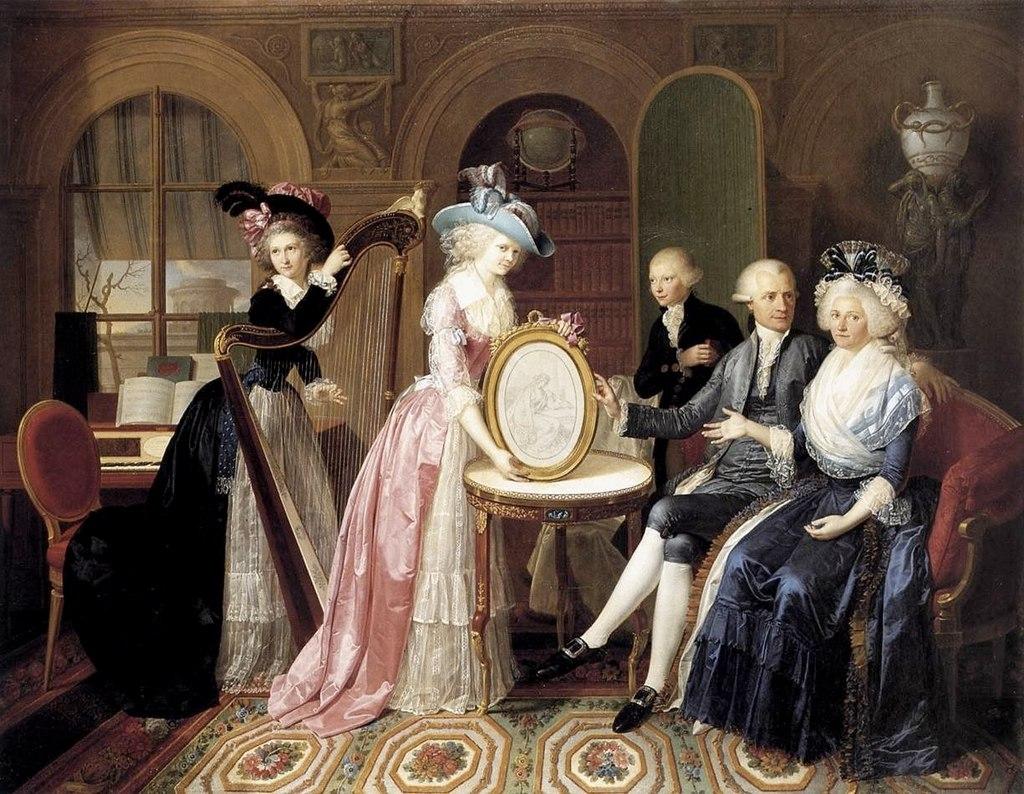 Ян Бернард Дувивер, Портрет Семьи Виллерс 1790