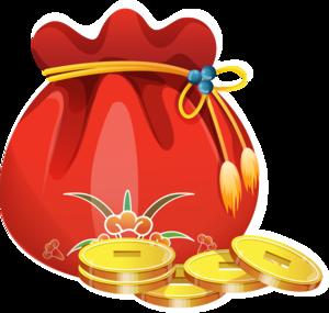 китайский мешок с монетами