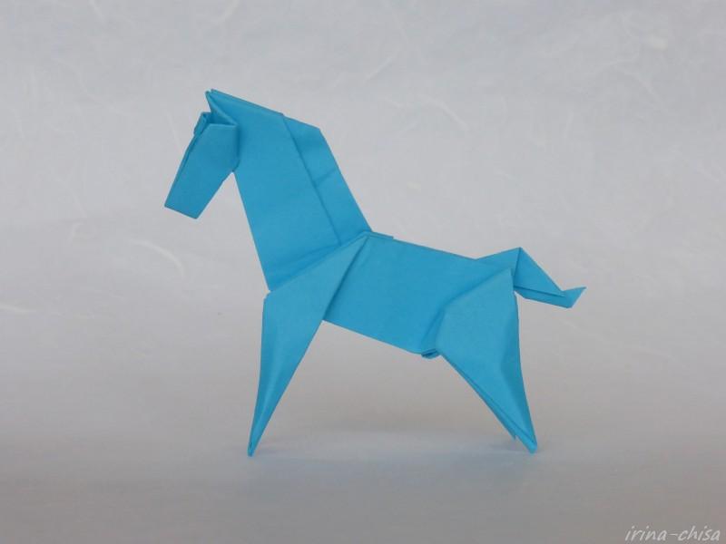 Оригами из бумаги пегас