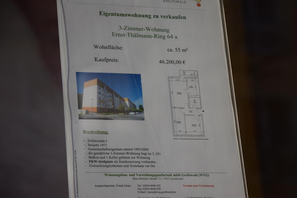 Цены на недвижимость в Грайфсвальде Германия
