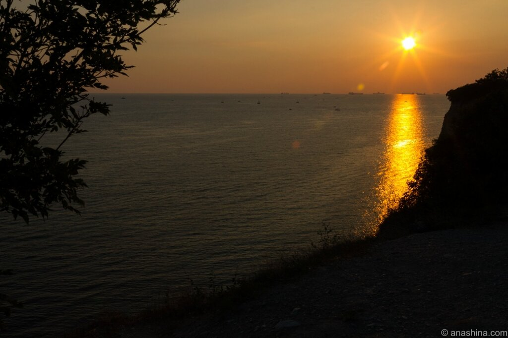 Закат, Толстый мыс, Геленджик, Черное море