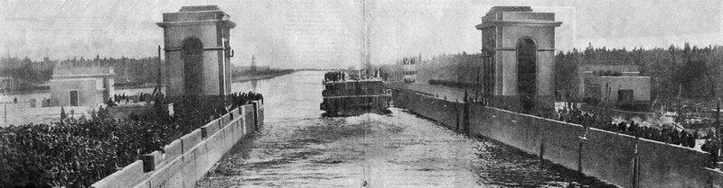 25 30 апреля 1937 Шлюз №2 Журнал 'Огонёк' 1937 №16-17 (20 июня). Фото П.Трошкина.jpg