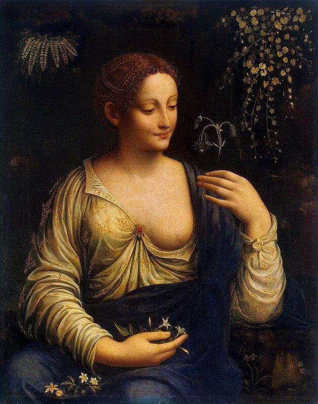 Мельци Франческо, Коломбина, 1520 г., Эрмитаж