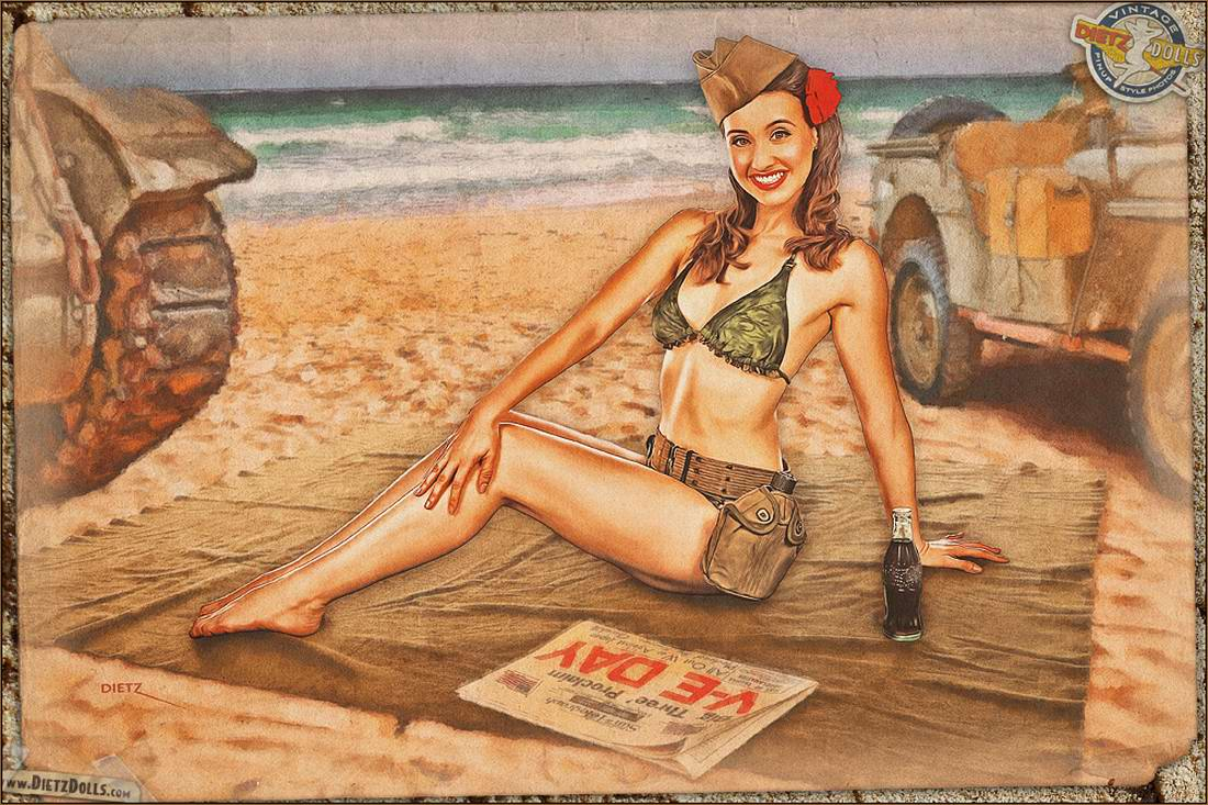 Армейский pin-up в стиле 1940-х годов от американского художника Britt Dietz (21)