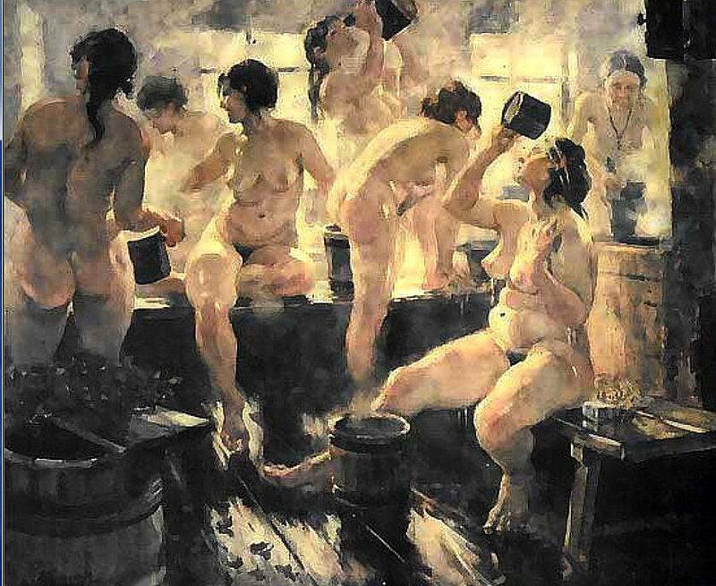 Сельская женская баня фото 744-687