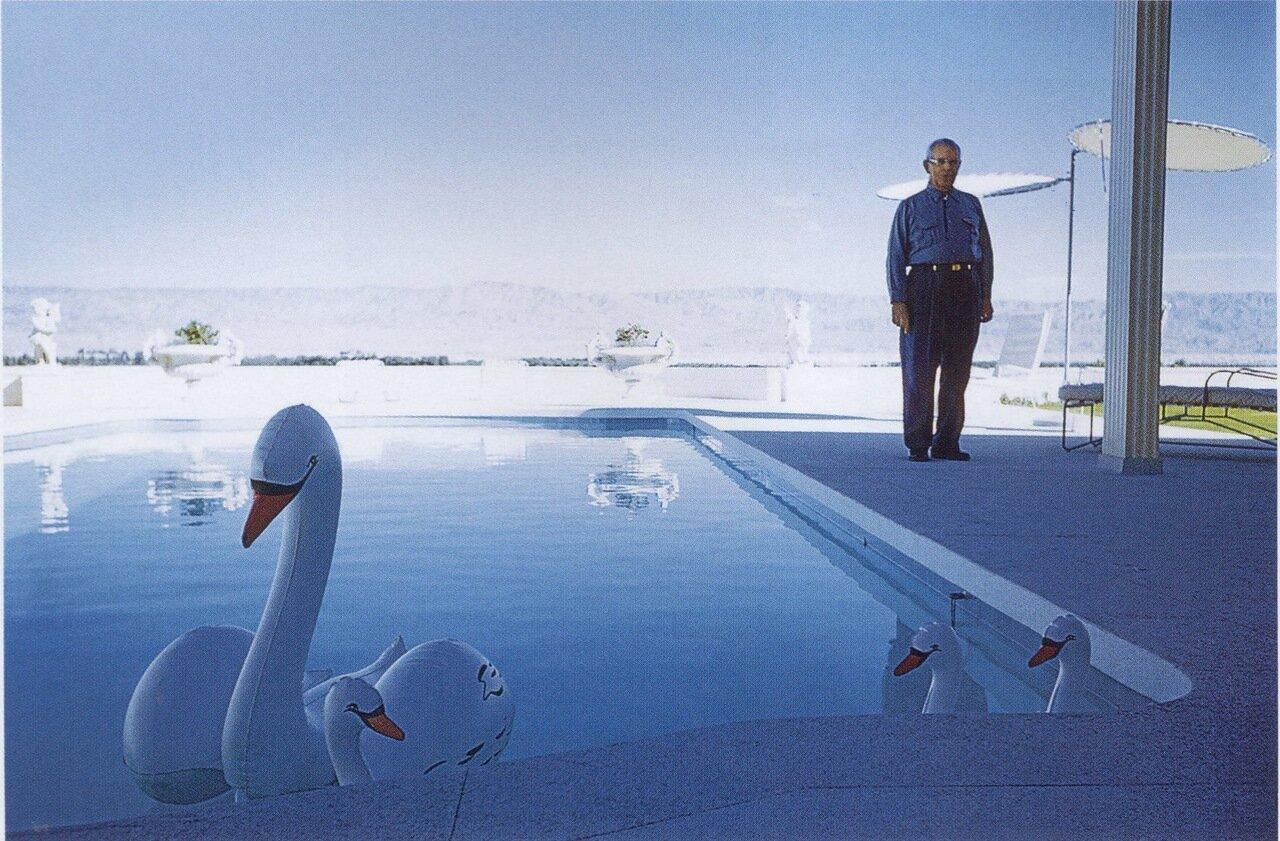 1960. Палм-спрингс. Надувные лебеди