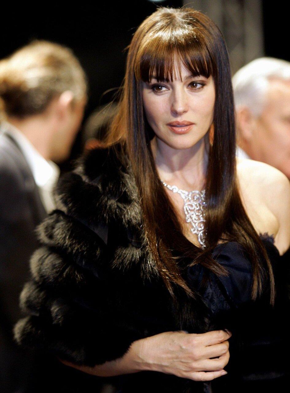 Italian actress Monica Bellucci poses at international film festival in Marrakesh