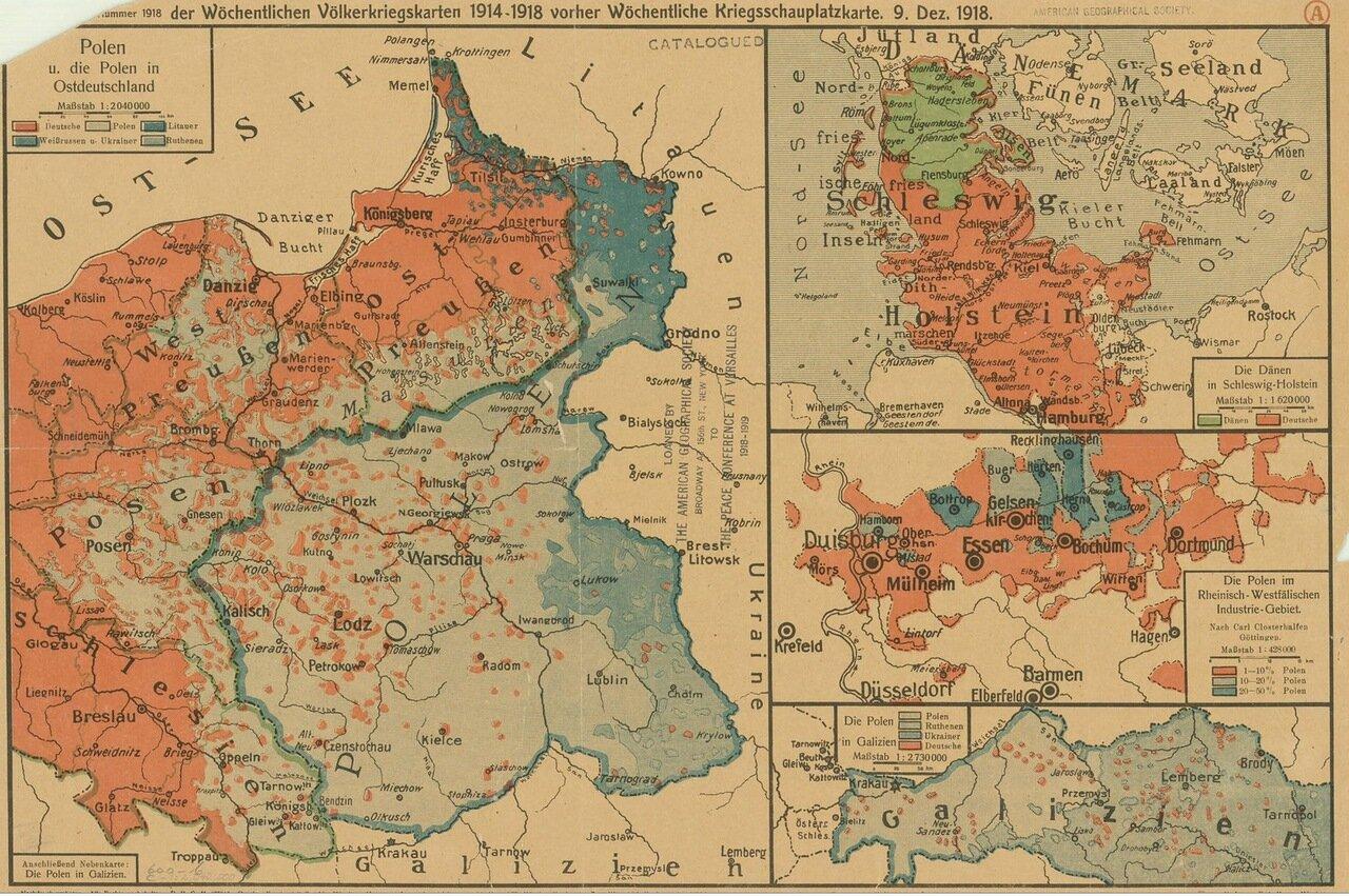 1918. Карта Германии